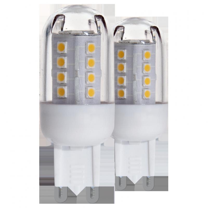 Eglo LED Leuchtmittel LM LED G9 2,5W 4000K 2 STK Glühlampe Gl&uu