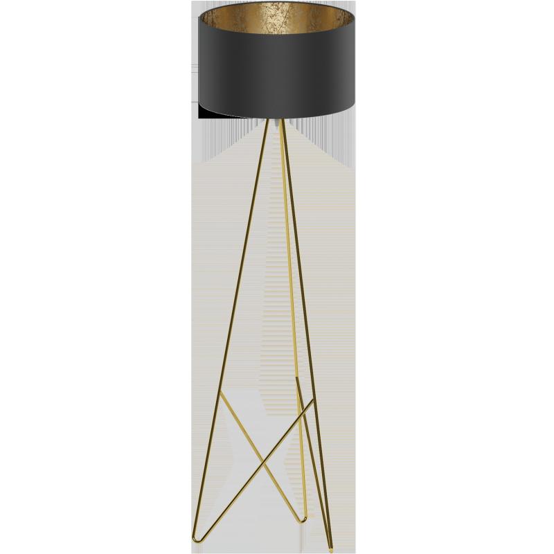 Eglo Stehleuchte 1 Messing schwarz Gold Camporale 39231, 99,87 €