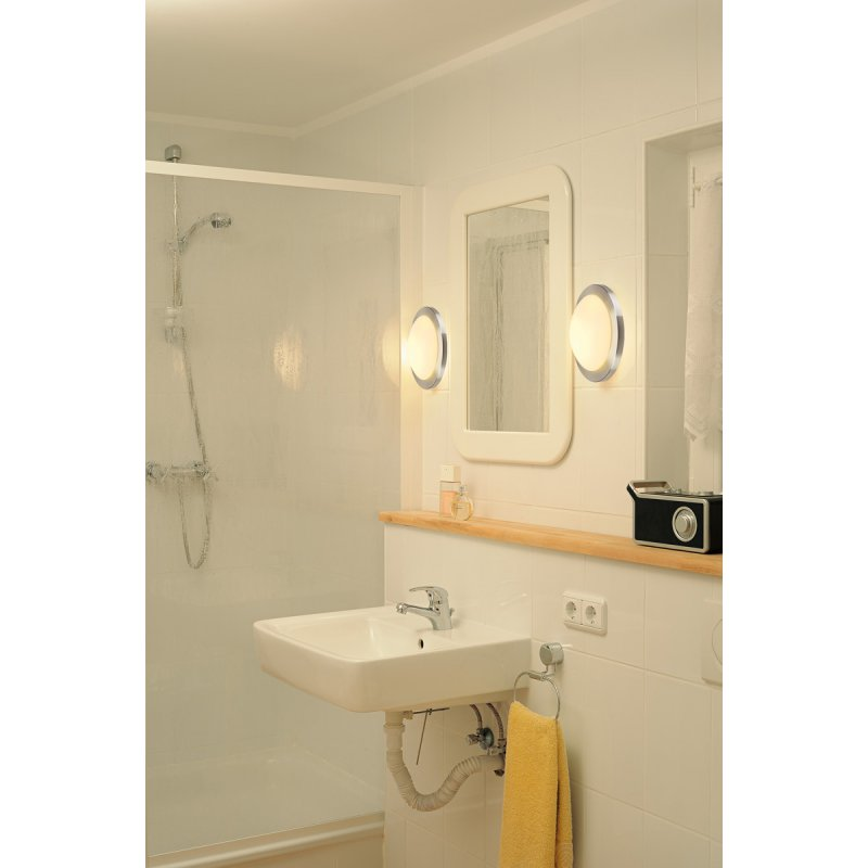 slv melan deckenleuchte rund alu geb rstet satiniertes glas e27. Black Bedroom Furniture Sets. Home Design Ideas