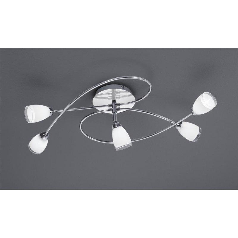 trio led deckenl chrom glas weiss rand klar 111 68 eu. Black Bedroom Furniture Sets. Home Design Ideas