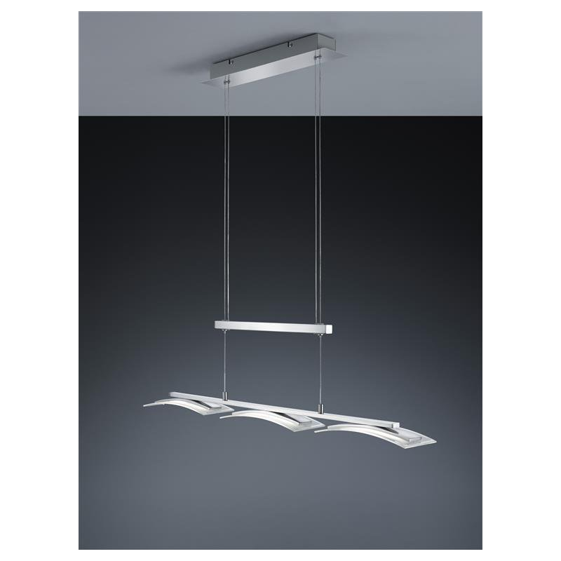 trio led jojo pend stakkato 3x4 5w nickel m glas satiniert klar 77. Black Bedroom Furniture Sets. Home Design Ideas