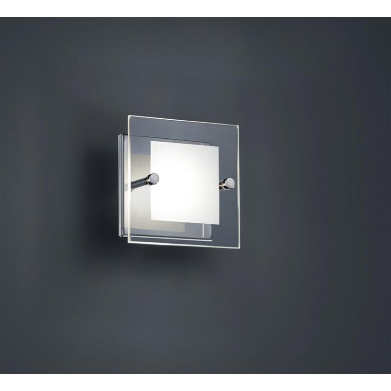 trio led wandleuchte 1x4 5w osram led glas klar satiniert 37 30. Black Bedroom Furniture Sets. Home Design Ideas