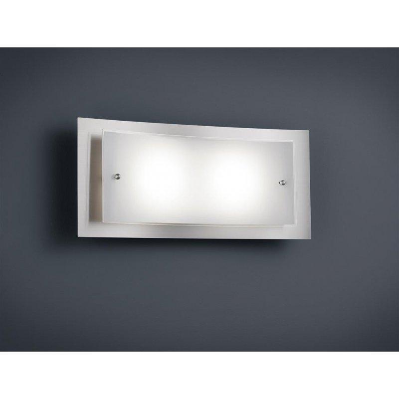 trio led wandleuchte 2x4 5w osram led nickel matt glas weiss 49 90. Black Bedroom Furniture Sets. Home Design Ideas