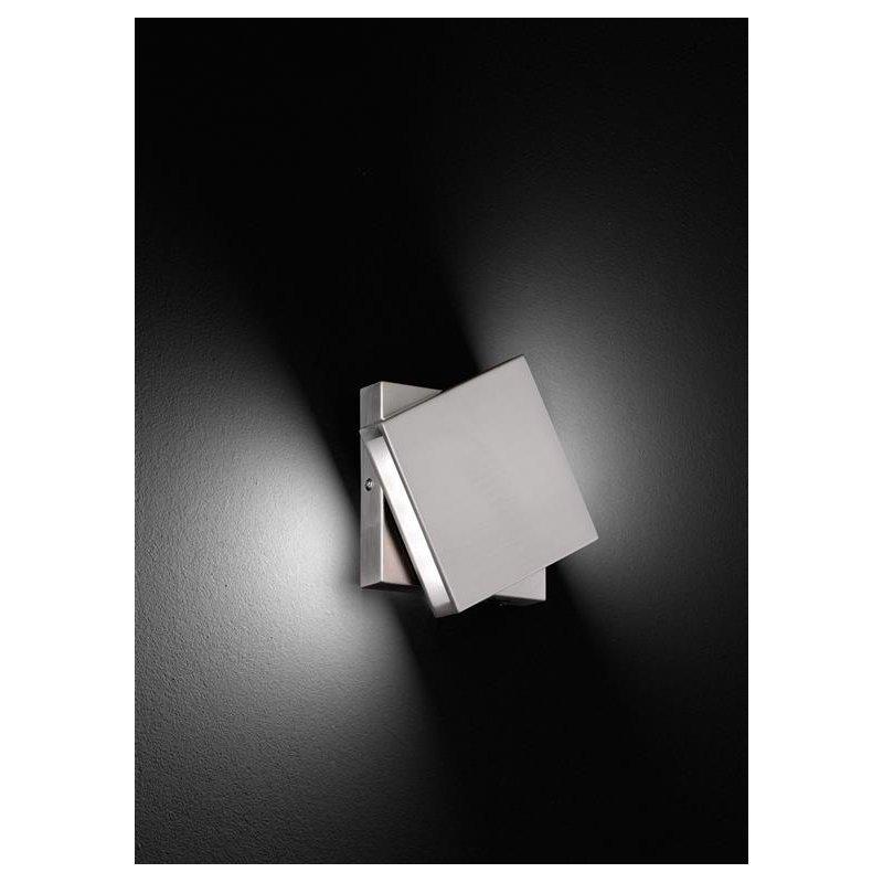 trio led wandleuchte 2x5w smd led 3000k schwenkbar nickel matt 70 89. Black Bedroom Furniture Sets. Home Design Ideas