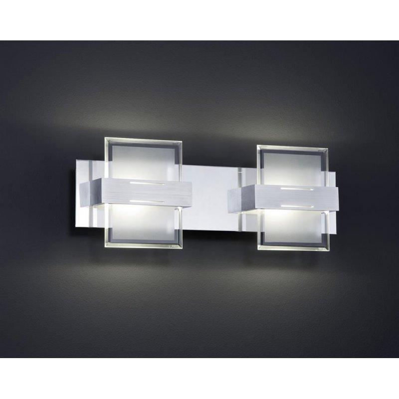 trio led wandleuchte 5w osr led glas weiss satiniert klar 77. Black Bedroom Furniture Sets. Home Design Ideas