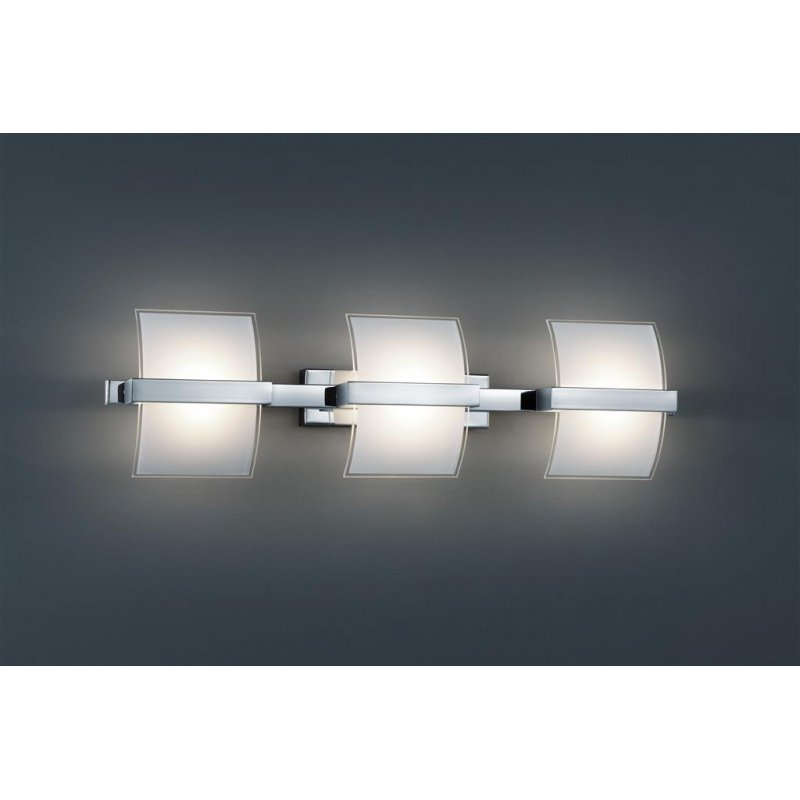 trio led wandleuchte cob led glas innen weiss aussen klar. Black Bedroom Furniture Sets. Home Design Ideas